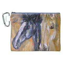2 Horses Canvas Cosmetic Bag (xxl)