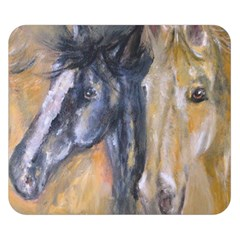 2 Horses Double Sided Flano Blanket (small)