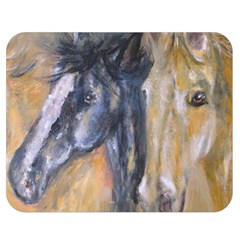 2 Horses Double Sided Flano Blanket (medium)