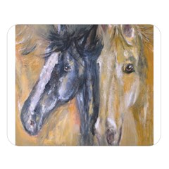 2 Horses Double Sided Flano Blanket (large)