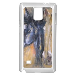 2 Horses Samsung Galaxy Note 4 Case (White)