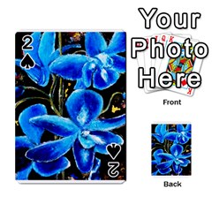 Bright Blue Abstract Flowers Playing Cards 54 Designs