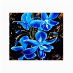 Bright Blue Abstract Flowers Collage 12  x 18  18 x12 Print - 4