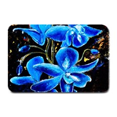 Bright Blue Abstract Flowers Plate Mats