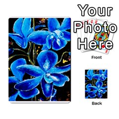 Bright Blue Abstract Flowers Multi-purpose Cards (Rectangle)