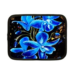 Bright Blue Abstract Flowers Netbook Case (small)