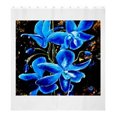 Bright Blue Abstract Flowers Shower Curtain 66  x 72  (Large)