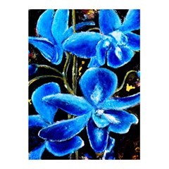 Bright Blue Abstract Flowers 5 5  X 8 5  Notebooks