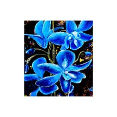 Bright Blue Abstract Flowers Shower Curtain 48  x 72  (Small)