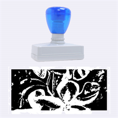 Bright Blue Abstract Flowers Rubber Stamps (Large)