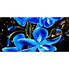 Bright Blue Abstract Flowers You Are Invited 3d Greeting Card (8x4)