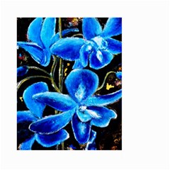 Bright Blue Abstract Flowers Large Garden Flag (Two Sides)