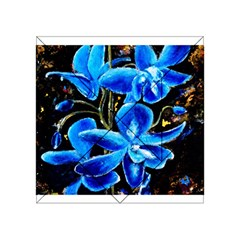Bright Blue Abstract Flowers Acrylic Tangram Puzzle (4  x 4 )