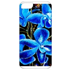 Bright Blue Abstract Flowers Apple Iphone 5 Classic Hardshell Case
