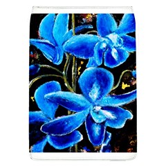 Bright Blue Abstract Flowers Flap Covers (l)