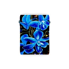 Bright Blue Abstract Flowers Apple Ipad Mini Protective Soft Cases