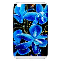 Bright Blue Abstract Flowers Samsung Galaxy Tab 3 (8 ) T3100 Hardshell Case