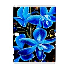 Bright Blue Abstract Flowers Samsung Galaxy Note 10 1 (p600) Hardshell Case