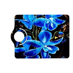 Bright Blue Abstract Flowers Kindle Fire Hd (2013) Flip 360 Case