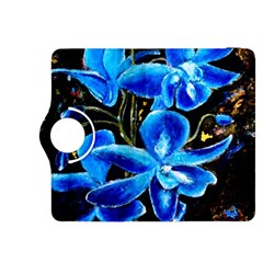 Bright Blue Abstract Flowers Kindle Fire Hdx 8 9  Flip 360 Case