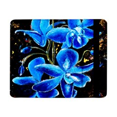 Bright Blue Abstract Flowers Samsung Galaxy Tab Pro 8 4  Flip Case