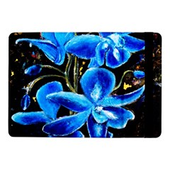 Bright Blue Abstract Flowers Samsung Galaxy Tab Pro 10 1  Flip Case