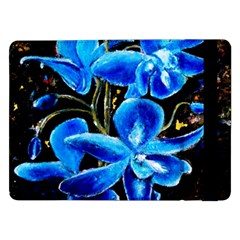 Bright Blue Abstract Flowers Samsung Galaxy Tab Pro 12.2  Flip Case