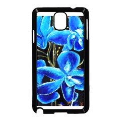 Bright Blue Abstract Flowers Samsung Galaxy Note 3 Neo Hardshell Case (black)