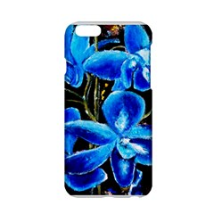 Bright Blue Abstract Flowers Apple iPhone 6 Hardshell Case