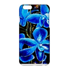 Bright Blue Abstract Flowers Apple iPhone 6 Plus Hardshell Case