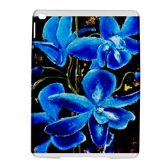 Bright Blue Abstract Flowers iPad Air 2 Hardshell Cases