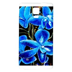 Bright Blue Abstract Flowers Galaxy Note 4 Back Case