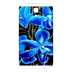 Bright Blue Abstract Flowers Samsung Galaxy Mega I9200 Hardshell Back Case