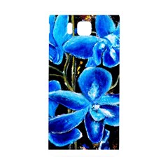 Bright Blue Abstract Flowers Samsung Galaxy Alpha Hardshell Back Case