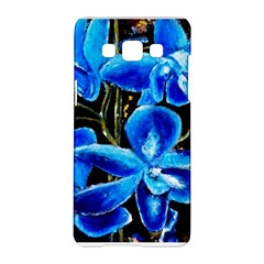 Bright Blue Abstract Flowers Samsung Galaxy A5 Hardshell Case