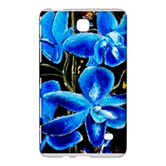 Bright Blue Abstract Flowers Samsung Galaxy Tab 4 (7 ) Hardshell Case