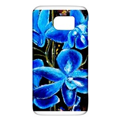 Bright Blue Abstract Flowers Galaxy S6