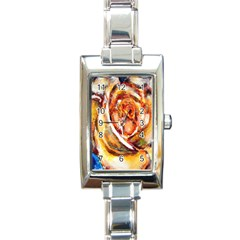 Abstract Rose Rectangle Italian Charm Watches
