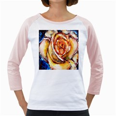 Abstract Rose Girly Raglans