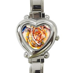 Abstract Rose Heart Italian Charm Watch