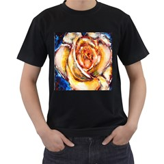 Abstract Rose Men s T-Shirt (Black) (Two Sided)