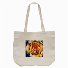 Abstract Rose Tote Bag (cream)