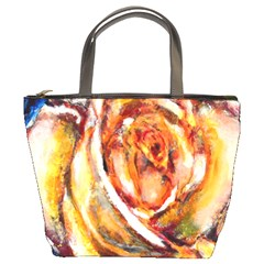 Abstract Rose Bucket Bags