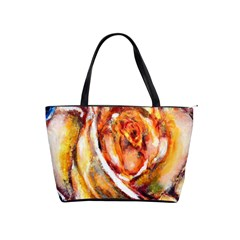 Abstract Rose Shoulder Handbags