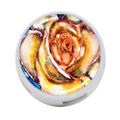 Abstract Rose 4 Port Usb Hub (two Sides)