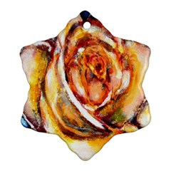 Abstract Rose Snowflake Ornament (2-Side)
