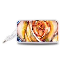 Abstract Rose Portable Speaker (White)
