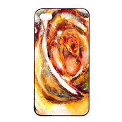 Abstract Rose Apple iPhone 4/4s Seamless Case (Black)