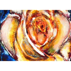 Abstract Rose Birthday Cake 3D Greeting Card (7x5)