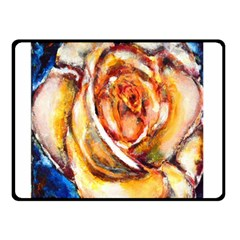 Abstract Rose Double Sided Fleece Blanket (Small)